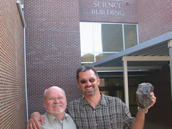 Jerry Armstrong & Dave Gheesling after the privilege of speaking to Cobb County's science teachers about the finer points of meteorites
