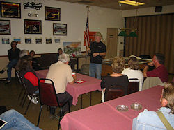 Jerry Armstrong giving a lecture in Tucson before the 2009 meteorite auction